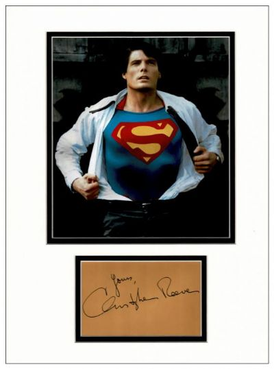 Christopher Reeve Autograph Signed Display - Superman
